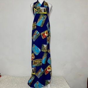 Vintage 50's/60's Hawaiian Sarong Wrap Skirt Dress